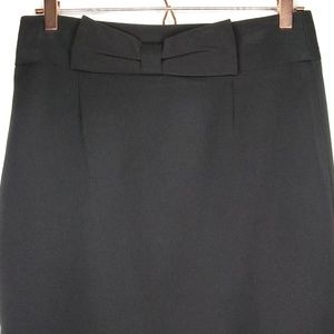 Grace Elements Size 8 Skirt Bow Solid Black Pencil